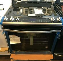 New Open Box Whirlpool  30  Slide In Gas Range Stainless Steel WEG745H0FS