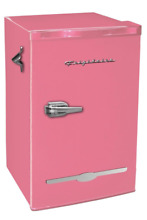 New 3 2 Cu  Ft  Pink Retro Mini Fridge Small Office Dorm Compact Refrigerator