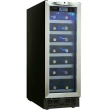 Danby Wine Cooler Built In Programmable Temperature Stainless Steel 27 Bottle
