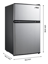New 3 2 Cu Ft Mini Fridge Dorm Office Compact Refrigerator Small Freezer Cooler
