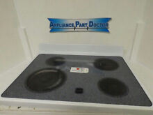 WHIRLPOOL STOVE 8053543 MAIN  TOP USED  SMALL CHIP IN GLASS