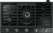 Samsung Gas Cooktop 5 Burners Built In Stainless Steel NA36K7750TG Black 36