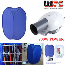 Portable Electric Clothes Dryer Heater Drying Rack Wardrobe Machine W  Air Pump