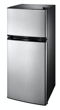4 3 Cu Ft Mini Fridge Freezer 2 Door Stainless Steal Small Compact Refrigerator