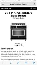 Bertazzoni 36 all gas range Heritage series  new out of box