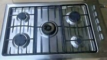 Gas Cooktop 36  Fisher Paykel GC913 SS FP US 5 Burners Stainless Steel Pre Owned
