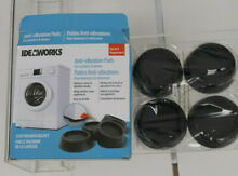 Ideaworks Anti Vibration Pads for Washers   Dryers  Set of 4  Reduces Noise