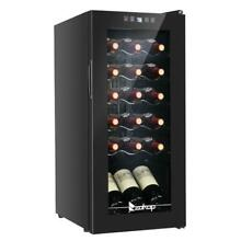 Zokop 18 Bottle Wine Cooler Fridge For Red White Champagne Freestanding Compact