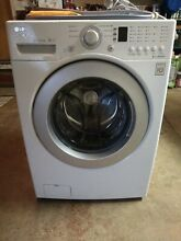 LG 3 7 cu ft  Large Capacity Front Load Washer with LED display   WM2240CW