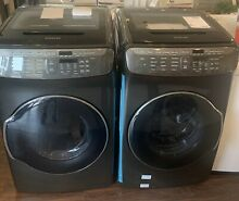 NEW OPEN BOX SAMSUNG WASHER   GAS DRYER SET