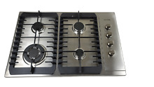 AOTIN 30  Stainless Steel 4 Burners Gas Cooktop Built in LPG NG Gas Hob