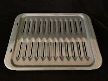 Porcelain Large Grey Broiler Pan w  Grill 17 Inches Long by 12 1 2 Inches New