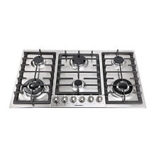34  Top Stainless Steel Built In 6 Burners Stoves Cooktops NG LPG Gas Hob Cooker