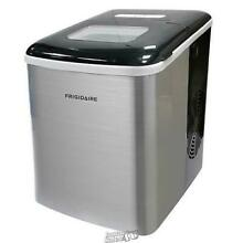 Frigidaire 26 lb  Countertop Ice Maker EFIC117 SS Silver Stainless Steel Machine