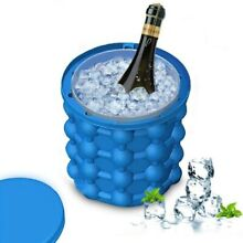 Silicone Ice Maker Bucket Fast Cold Ice Bucket Space Saving Ice Genies Ice Ball