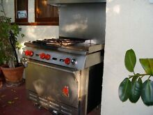 Wolf stainless steel gas stove with 4 burners   original hardware