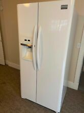 Frigidaire Gallery 23 cu  Ft  Side by Side Refrigerator in Pearl White