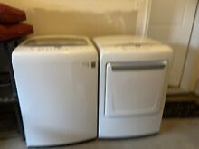 LG electric washer and  gas dryer set used
