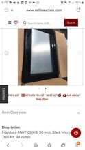 Trim Kit Microwave Frigidaire MWTK30KB 30 Inch CounterTop to Installed Black