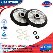 2PC 349241T Rear Drum Support Roller Kit Drum Roller for Whirlpool Kenmore Dryer