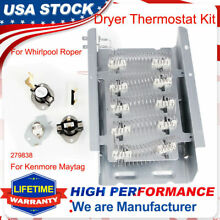 279838 279816 Dryer Heating Element Kit Parts For Whirlpool Roper Kenmore Maytag