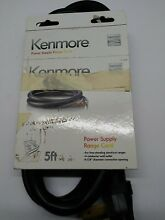 Kenmore 4 Prong Power Supply Range Cord  5 ft  Black  For Free Standing Ranges