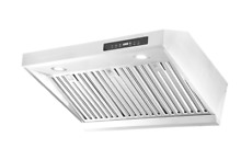 30  Stainless Steel Under Cabinet Range Kitchen Hood Stove Vent Fan Panel Push