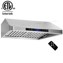 ETL 30  Under Cabinet Stainless Steel Kitchen Vent Range Hood W Remote 1000CFM