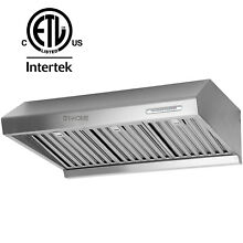 800CFM 30  Under Cabinet Kitchen Stove Range Hood 2 Motor Stainless Mesh Filter