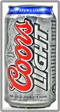 Coors Light Beer Can Refrigerator   Tool Box Magnet Man Cave Item