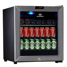 38 Can Compressor Mini Bar Fridge  Stainless Steel Silver