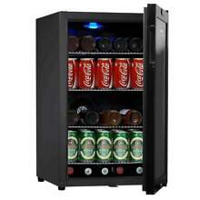 68 Can Compressor Mini Bar Fridge  Black