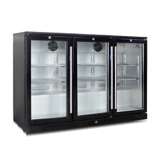 Under Counter Bar Fridge  3 Self closing Glass Door 328BP