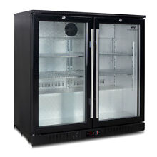 Commercial Under Counter Bar Fridge  2 Self closing Glass Door 56BP