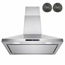 AKDY  30  Wall Mount Stainless Steel Touch Control Kitchen Ductless Range Hood