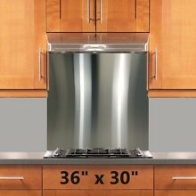 Backsplash Stainless Steel 36x30in Stove Range Hood Wall Shield w  Hemmed Edges