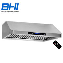 36  Under Cabinet Stainless Steel Kitchen Range Hood Two Motor Remote Control