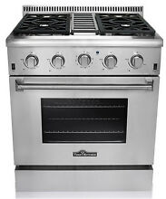 Thor Kitchen 30  Gas Range with 4 Burners and Convection Oven HRG3026U