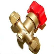 HIGH QUALITY REFRIGERATION BRASS HAND VALVE WITH RED HANDLE 1 2  FLARE RF160A