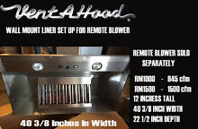 Vent A Hood Liner   Remote Blower 40 3 8 Width 22 1 2 Depth Blower Sold Seperate