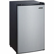 Magic Chef 3 5 cu  ft  Mini Compact Stainless Steel Refrigerator MCBR350B2