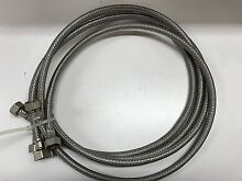 4 X 90CM HIGH QUALITY STAINLESS STEEL GAS HOSE WITH WASHER FITTINGS