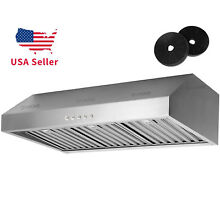 Under Cabinet 36  Stainless Steel Range Hood Kitchen Vent With Carbon Filter