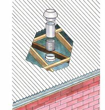 Deflecto DRYER CEILING TO ROOF KIT Venting System w  Roof Mushroom Cowl  100mm