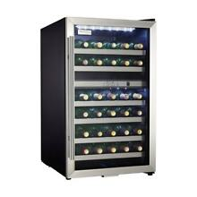 38 Bottle Stainless Steel Wine Cooler  Wooden Shelves  Was  799 00 Dual Zone