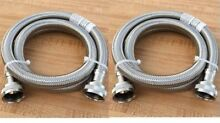 NEW 2X Stainless Steel Washing Machine Fill Hoses 6 ft 2 Packs Set Fill Hoses