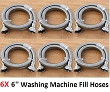 New 6 Packs Electrolux 6 ft Stainless Steel Washing Machine Fill Hose Bulk Sale