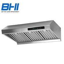 30  Stainless Under Cabinet Touch Panel Kitchen Stove Vent Range Hood Steel CFM
