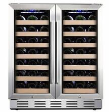 Kalamera 66 bottle 30  Undercounter Wine Refrigerator  Stainless Steel  Beverage