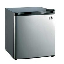 Igloo 1 6 Cu Ft Mini Refrigerator Freezer  Stainless Steel  Refurbished